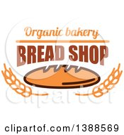 Clipart Of A Bakery Design With Text Wheat And Bread Royalty Free Vector Illustration