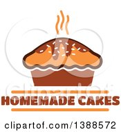 Clipart Of A Bakery Design With Text And A Cake Royalty Free Vector Illustration