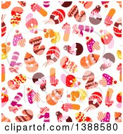 Clipart Of A Seamless Background Pattern Of Cake Numbers Royalty Free Vector Illustration by Vector Tradition SM
