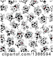 Clipart Of A Seamless Background Pattern Of Soccer Numbers Royalty Free Vector Illustration by Vector Tradition SM