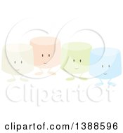 Clipart Of Colorful Marshmallow Characters Royalty Free Vector Illustration