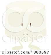 Clipart Of A Marshmallow Character Royalty Free Vector Illustration