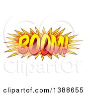 Clipart Of A Comic Styled BOOM Explosion Royalty Free Vector Illustration