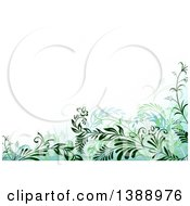 Clipart Of A Background Of Green Foliage Royalty Free Vector Illustration by dero