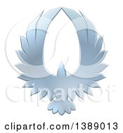 Clipart Of A Silver Eagle Forming An Oval With Its Wings Royalty Free Vector Illustration by AtStockIllustration