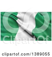 Clipart Of A 3d Waving Flag Of Nigeria Royalty Free Illustration
