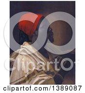 Portrait Of Toussaint L Ouverture Wearing A Robe