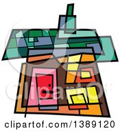 Clipart Of A Doodled Abstract Colorful House Royalty Free Vector Illustration by Prawny