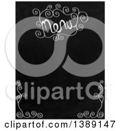 Clipart Of A Menu Blackboard With Swirls Royalty Free Illustration