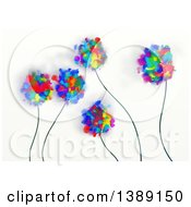 Poster, Art Print Of Background Of Painted Flowers