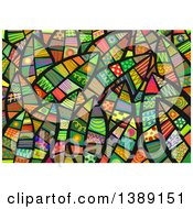 Clipart Of A Background Of Folk Art Leaves Royalty Free Illustration by Prawny
