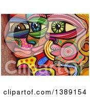 Clipart Of Folk Art Profiled Faces Royalty Free Illustration by Prawny