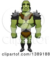Clipart Of A Buff Male Orc Royalty Free Vector Illustration by Cory Thoman