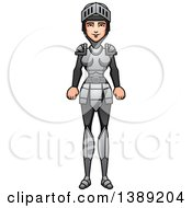 Clipart Of A Female Knight Royalty Free Vector Illustration