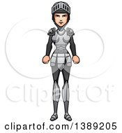 Clipart Of A Female Knight Royalty Free Vector Illustration by Cory Thoman