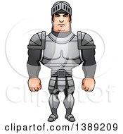 Clipart Of A Buff Male Knight Royalty Free Vector Illustration by Cory Thoman