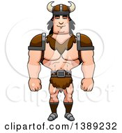 Clipart Of A Buff Barbarian Man Royalty Free Vector Illustration by Cory Thoman