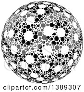 Clipart Of A Black And White Dotted Globe Sphere Orb Or Planet Royalty Free Vector Illustration by dero