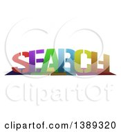 Clipart of a Colorful Word, SEARCH, with Shadows, on White - Royalty Free Illustration by MacX