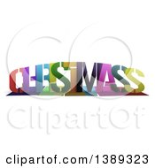 Colorful Word CHRISTMAS With Shadows On White