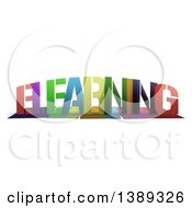 Clipart Of A Colorful Word ELEARNING With Shadows On White Royalty Free Illustration