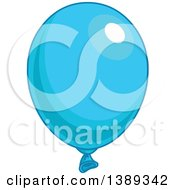 Blue Shiny Party Balloon