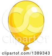 Yellow Shiny Party Balloon