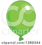 Green Shiny Party Balloon
