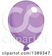 Purple Shiny Party Balloon