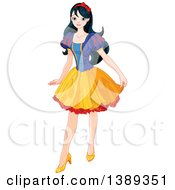 Clipart Of Princess Snow White Posing Royalty Free Vector Illustration