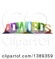 Colorful Word ADWORDS With Shadows On White