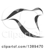 Clipart Of A Dark Gray Flying Dove Royalty Free Vector Illustration by elena