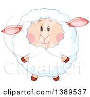 Clipart Of A Cute Sheep Royalty Free Vector Illustration