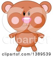 Clipart Of A Cute Bear Royalty Free Vector Illustration