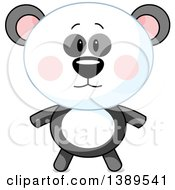 Clipart Of A Cute Panda Royalty Free Vector Illustration