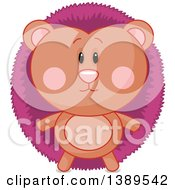 Clipart Of A Cute Hedgehog Royalty Free Vector Illustration by Pushkin