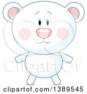 Clipart Of A Cute Polar Bear Royalty Free Vector Illustration