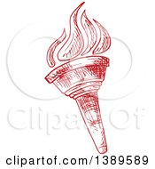 Clipart Of A Sketched Red Torch Royalty Free Vector Illustration by Vector Tradition SM