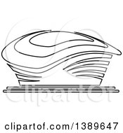 Clipart Of A Lineart Stadium Royalty Free Vector Illustration