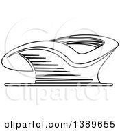 Clipart Of A Lineart Stadium Royalty Free Vector Illustration by Vector Tradition SM