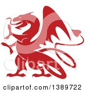 Red Silhouetted Dragon