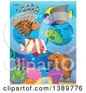 Clipart Of Sea Life Underwater Royalty Free Vector Illustration