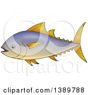Clipart Of A Tuna Fish Royalty Free Vector Illustration