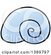Clipart Of A Blue Snail Shell Royalty Free Vector Illustration