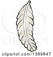 Clipart Of A Cartoon Bird Feather Royalty Free Vector Illustration