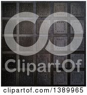 Clipart Of A Metal Plate Tile Background Royalty Free Illustration