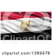 Clipart Of A 3d Waving Flag Of Egypt Royalty Free Illustration