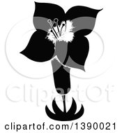 Clipart Of A Vintage Black And White Flower Royalty Free Vector Illustration by Prawny Vintage