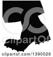 Clipart Of A Vintage Black And White Stepping Boot Royalty Free Vector Illustration