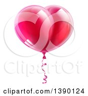 3d Shiny Pink Heart Shaped Party Balloon